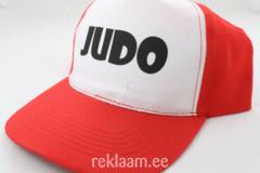 Nokamüts JUDO, punane/valge