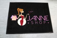 Logoga vaip Janne shop