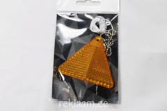 Plastikhelkur, kolmnurk, oranž