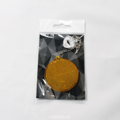Plastikhelkur, ümmargune, oranž
