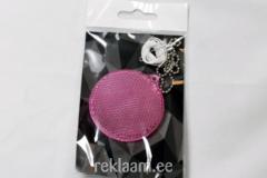 Plastikhelkur, ümmargune, roosa