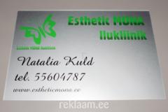 Reklaamsilt Esthetic Mona