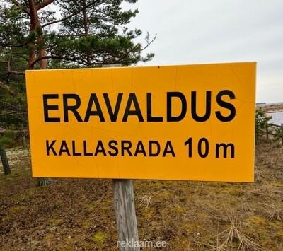 Eravaldus - kallasrada 10 m