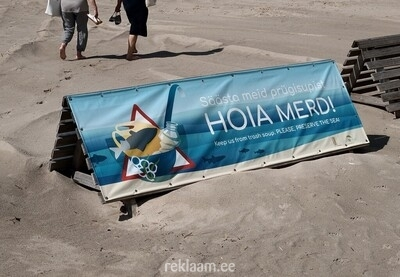 PVC Reklaambanner - Hoia Merd