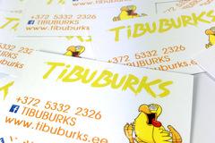 Visiitkaardid, TIBUBURKS