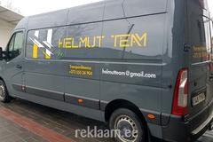 Reklaamkleebised bussile, Helmut Team
